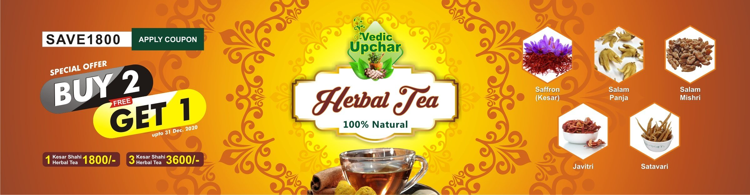 Vedic Herbal Tea  – 36 Herbs Combination – Vedic Upchar by Anil Bansal